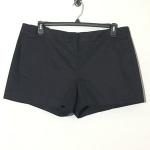 Tory Burch Chino Cotton Shorts Black Sz 14
